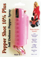 Pink Pepperspray Keychain